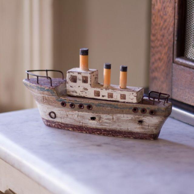 Stoomboot decoratief 18 cm P.2