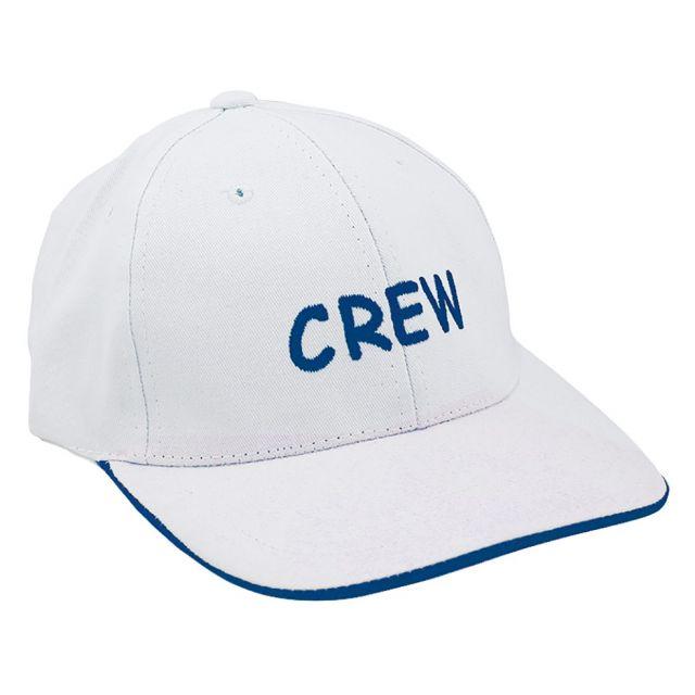 Baseball cap CREW wit katoen