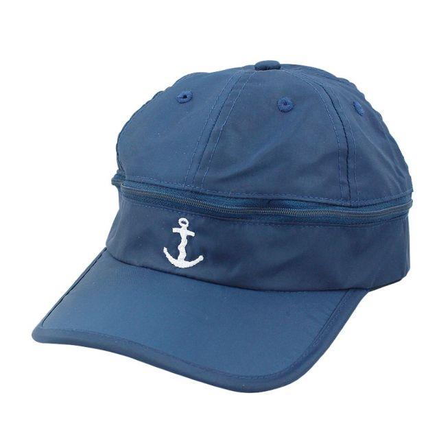 Regen/zoncap Anker marineblauw