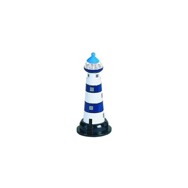 Vuurtoren 20 cm  blauw / wit